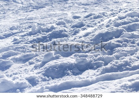 background with traces of snow on the ski - stock photo