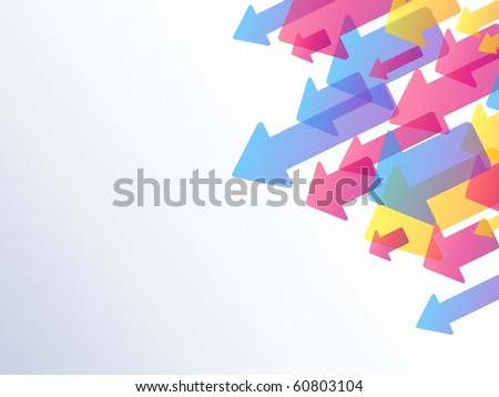 Background with transparent arrows (jpg); Eps10 version also available - stock photo