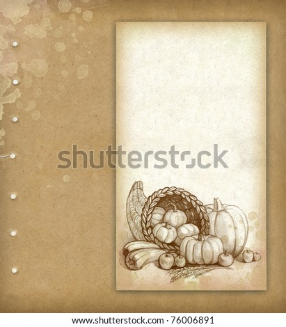 Background with vegetables - stock photo