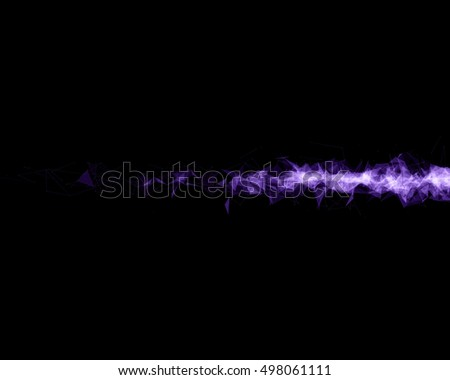 Background with violet abstract particles.