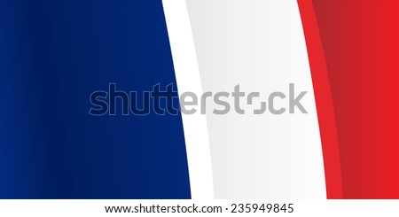 Background with waving French Flag. Raster version - stock photo