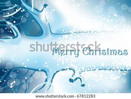background with winter weather, lying tree - stock photo