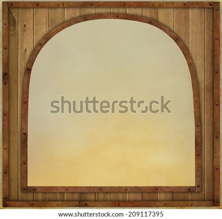 Background  with  wooden texture vintage frame - stock photo