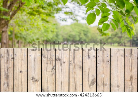 Background wooden fence