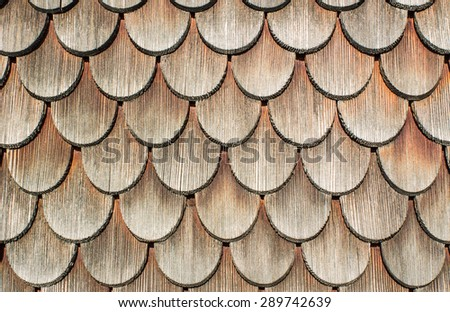 Background: Wooden shingles - stock photo