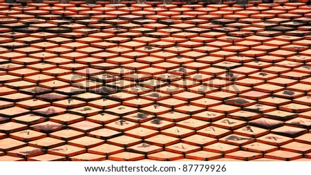 backgrounds of tile roof