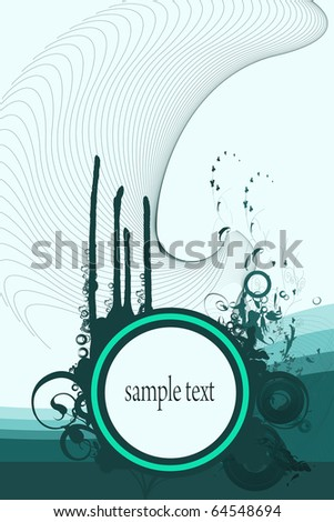 Backgrounds on abstract and grunge elements with space for sample text. - stock photo