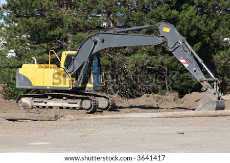 Backhoe - stock photo