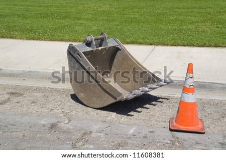 Backhoe Shovel - stock photo