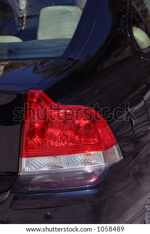 Backlight of a Car - stock photo