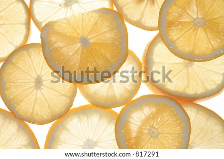Backlit oranges - stock photo