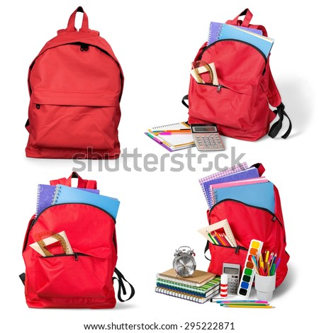 Backpack, bag, school. - stock photo