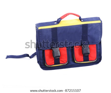 Backpack for school - stock photo