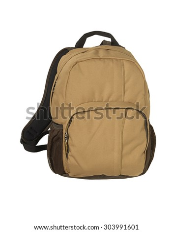 backpack in the white background