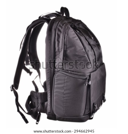 Backpack isolated on White Background - stock photo