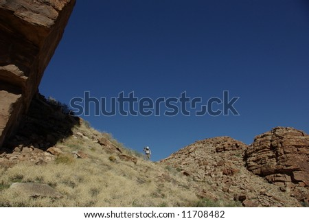 Backpacker, Grand Canyon National Park, Arizona - stock photo
