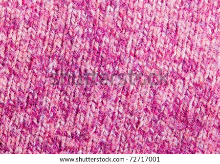 Backround with pink color knitted wool - stock photo