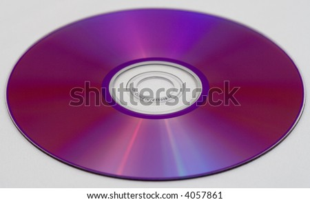 Backside of DVD recordable - stock photo