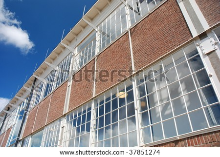 Backside of Mtv building at NDSM terrain in Amsterdam - stock photo