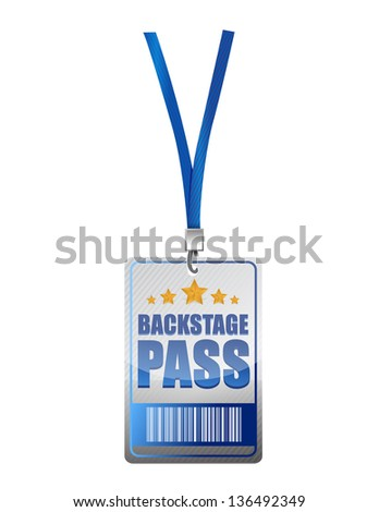 Backstage pass vip illustration design over a white background - stock photo