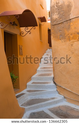 Backstreet in Chania/Crete/Greece