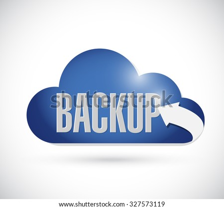 backup cloud sign concept illustration design graphic - stock photo