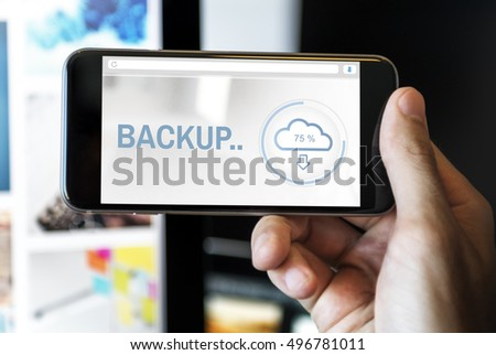 Backup The Cloud Storage Data Information Concept