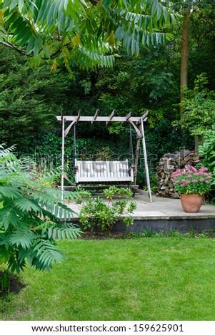 Backyard garden - stock photo