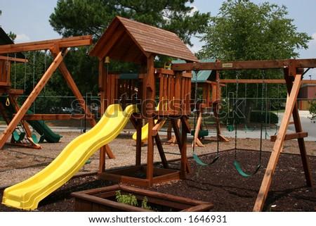 Backyard kids playground - stock photo