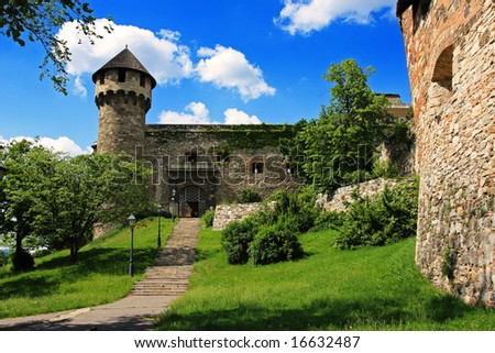 Backyard of the Royal Palace, Budapest, Hungary - stock photo