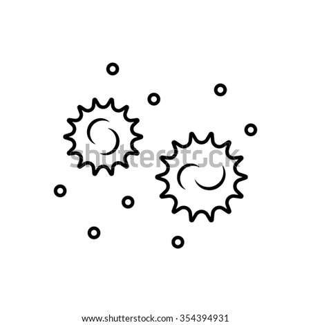 Bacteria and germs  icon in thin line style - stock photo