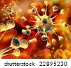 Bacteria background. - stock photo