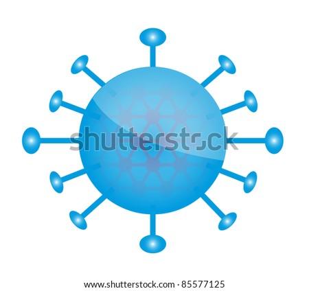 Bacteria Cartoon - stock photo