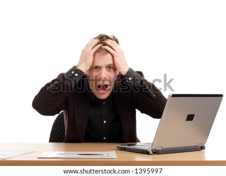 Bad day at work - stock photo