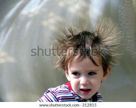 bad hair day - stock photo