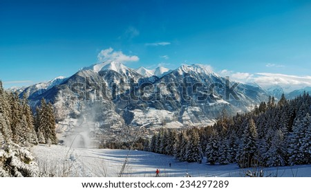 Bad Hofgastein, famous Swiss ski resort - stock photo