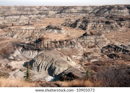 Bad land - stock photo