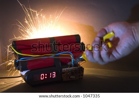 Bad luck (hand is blurry) - stock photo
