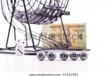 Bad Luck in Lottery - stock photo
