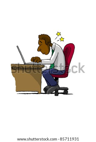 Bad Posture (Bitmap) - stock photo