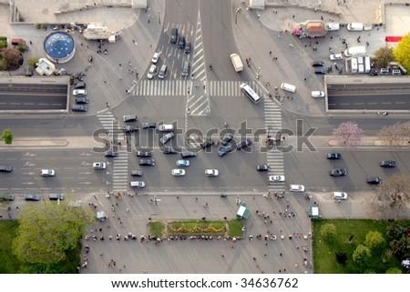 Bad traffic - stock photo