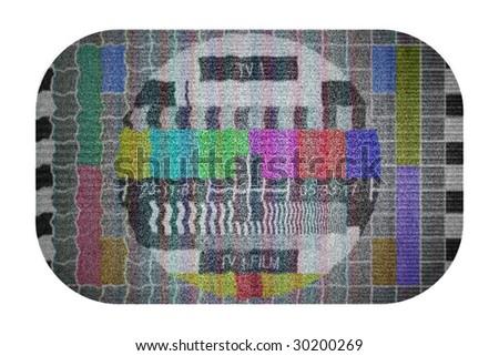 bad tv reception - stock photo