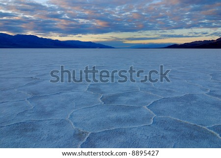 Bad Water Basin at Death Valley National Park in California - stock photo
