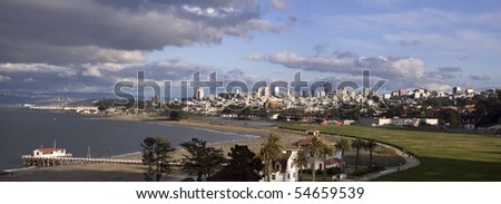 Bad weather approaching San Francisco - stock photo