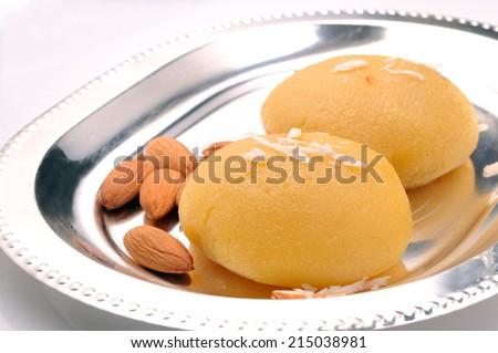Badam Halwa, Indian Sweet - stock photo