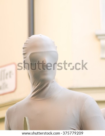 Baden bei Wien, AUSTRIA - 09  February 2016: A disguised man on a carnival float taking part in a carnival parade in Baden bei Wien, Austria.