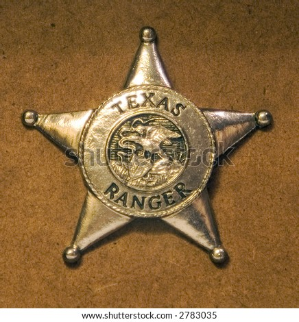 Badge for a texas ranger