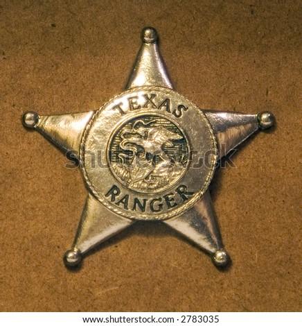 Badge for a texas ranger - stock photo