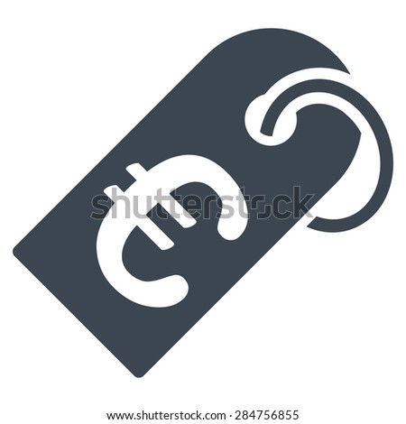 Badge from BiColor Euro Banking Icon Set. Glyph style: flat, smooth blue symbol, rounded angles, white background. - stock photo