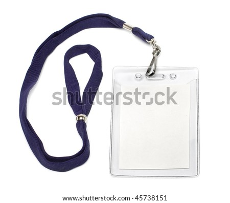 badge ID isolated on white background - stock photo